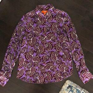 Joe Fresh Purple Paisley Blouse